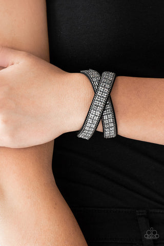Paparazzi Bracelet-Rock Band-Refinement-Black