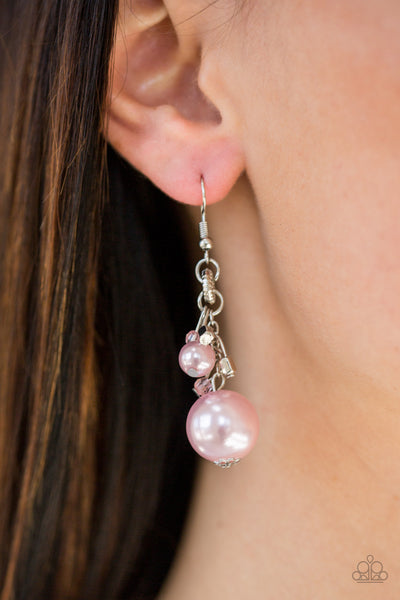 Paparazzi Earrings-Timelessly Traditional-Pink