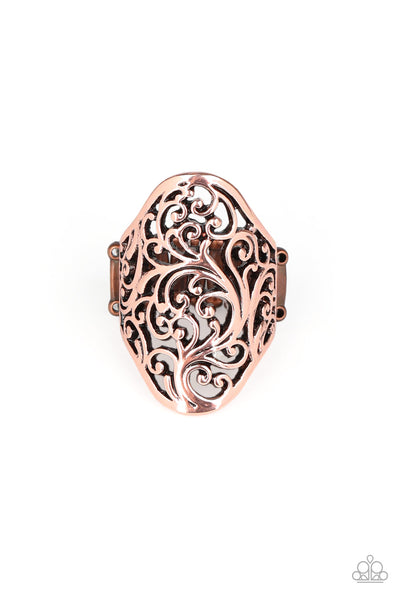 Paparazzi Ring-Vine Vibe-Copper