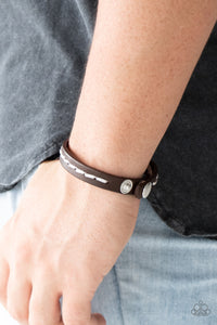 Paparazzi Urban Bracelet-First Class Traveler-Brown
