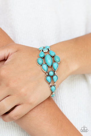 Paparazzi Bracelet-Blooming Prairies-Blue