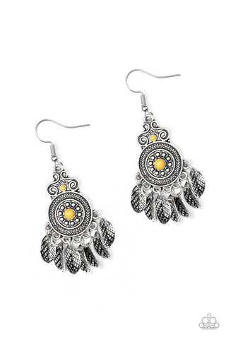 Paparazzi Earrings-Lower East Wildside-Yellow