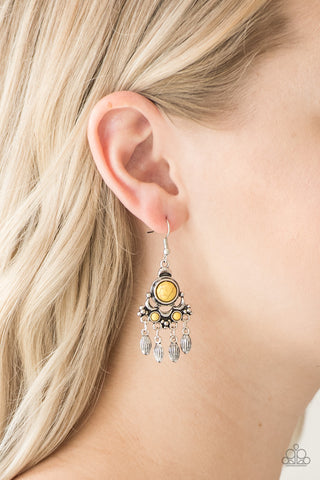Paparazzi Earrings-No Place Like Homestead-Yellow