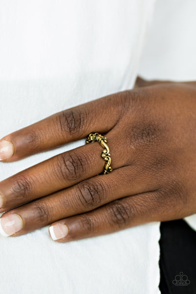 Paparazzi Ring-Serenely Summer-Brass