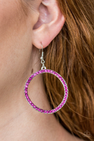 Paparazzi Earrings-Stoppin' Traffic-Pink