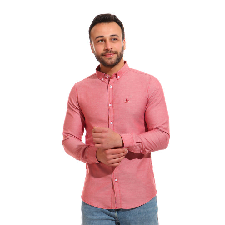 Oxford Mens Shirt_Red