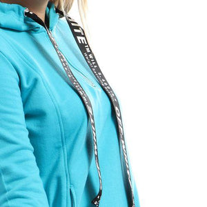 Hoodies Sweatshirt With Lines _ Aqua