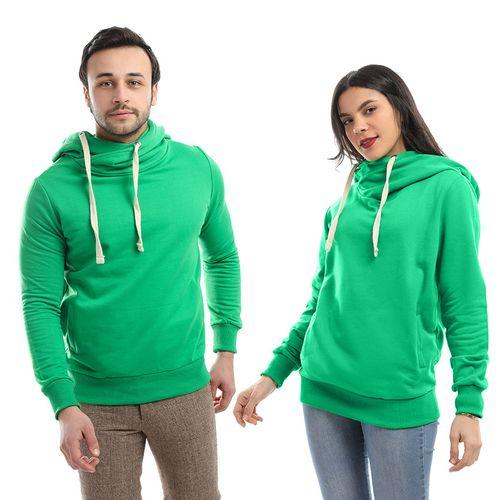 Cross Hoodies Sweatshirt _ Light Green