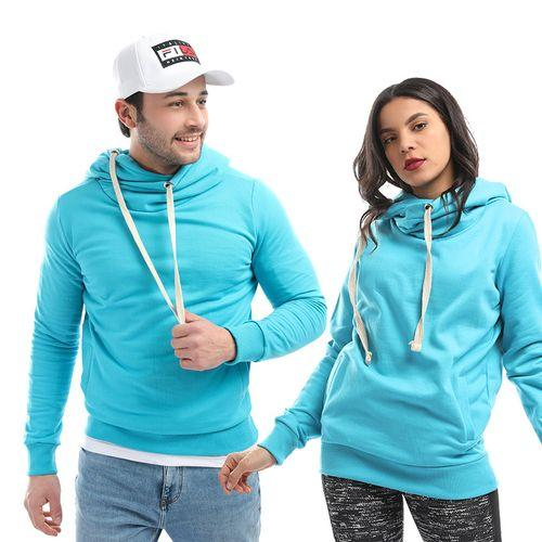 Cross Hoodies Sweatshirt _ Aqua