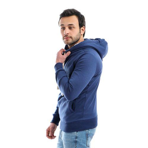 Cross Hoodies Sweatshirt_Navy Blue