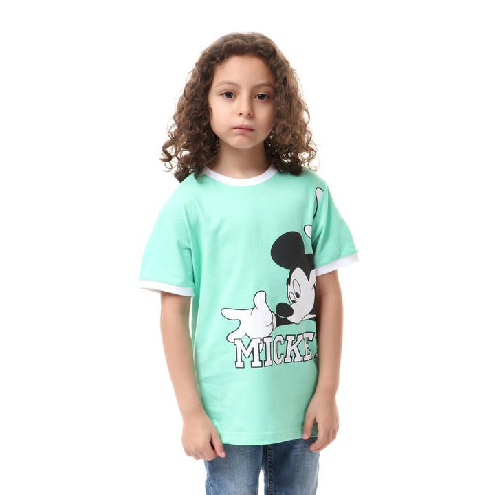 boys- mickey- mouse- printed- t-shirt- - mint