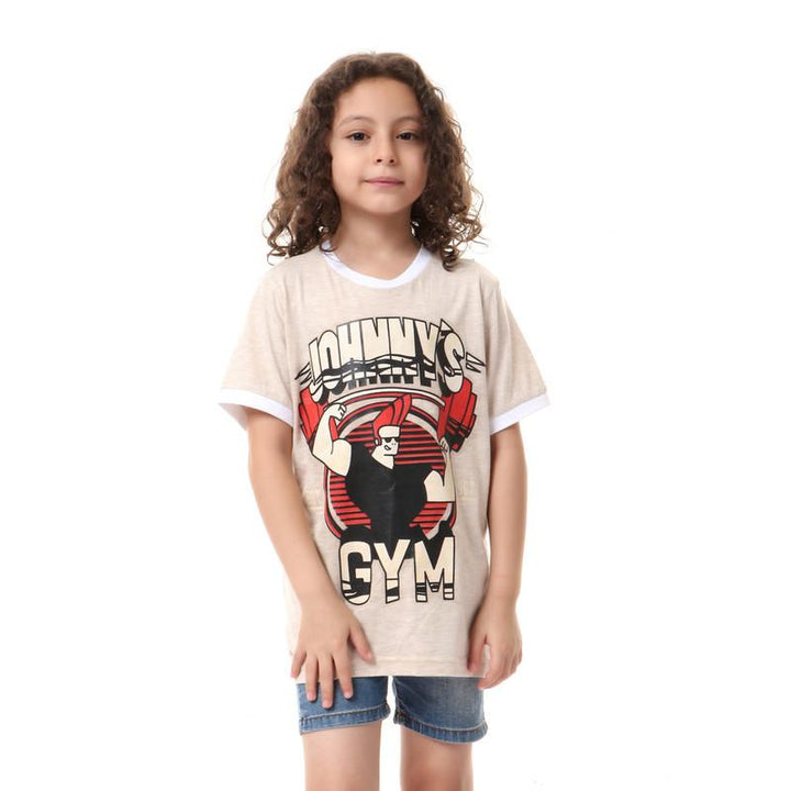 boys- printed- - johnnys- - t-shirt- - beige
