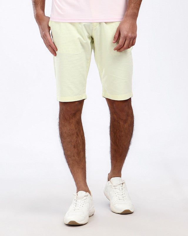 Pique Casual Four Pockets Short - Yellow