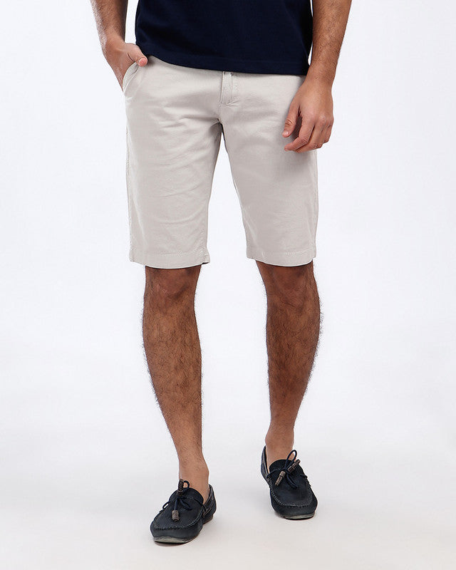 Pique Casual Four Pockets Short - Light Grey