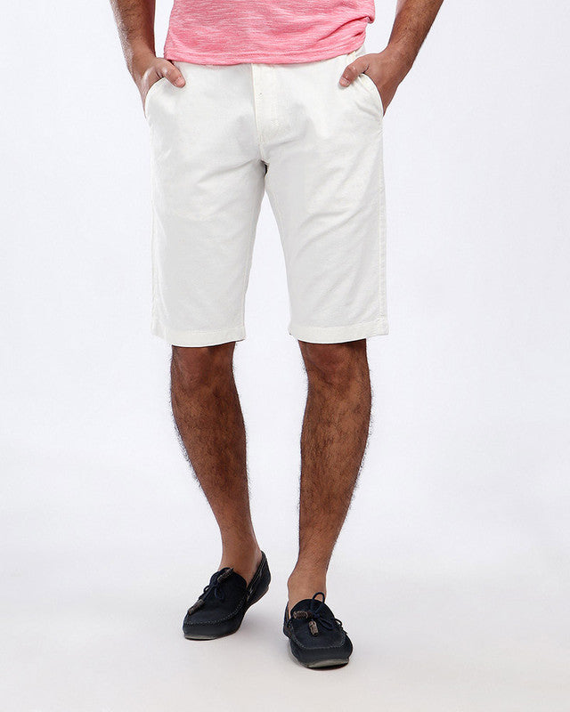Pique Casual Four Pockets Short - Off-White
