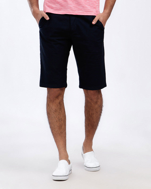 Pique Casual Four Pockets Short - Navy Blue
