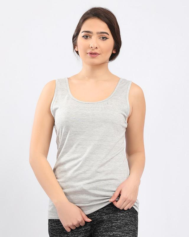 Sleeveless Solid T-Shirt - Heather Grey