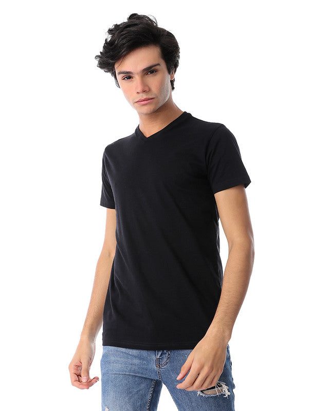 basic-v-neck-solid-t-shirt-black