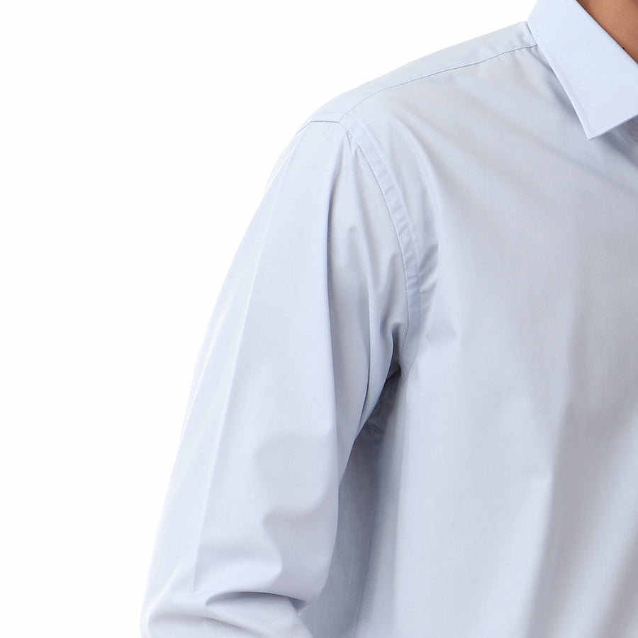 Classic Solid Long SLeeves Shirt - Pale Blue