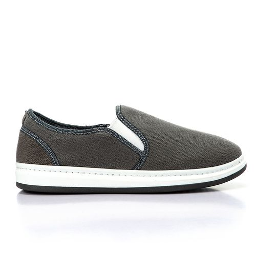 Canvas Slip On Shoes - Grey
