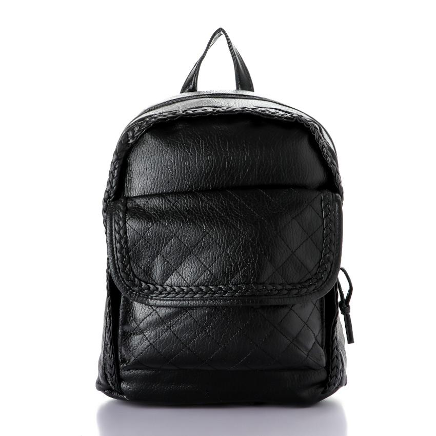 Casual Backpack With Pocket_ Black