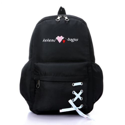 stitched kekemi fashionable backpack - black