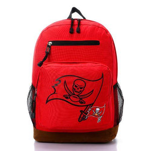 Printed Skull Zipped Backpack - Red