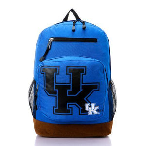 "Unisex "" UK "" Zipped Casual Backpack - Royal Blue"