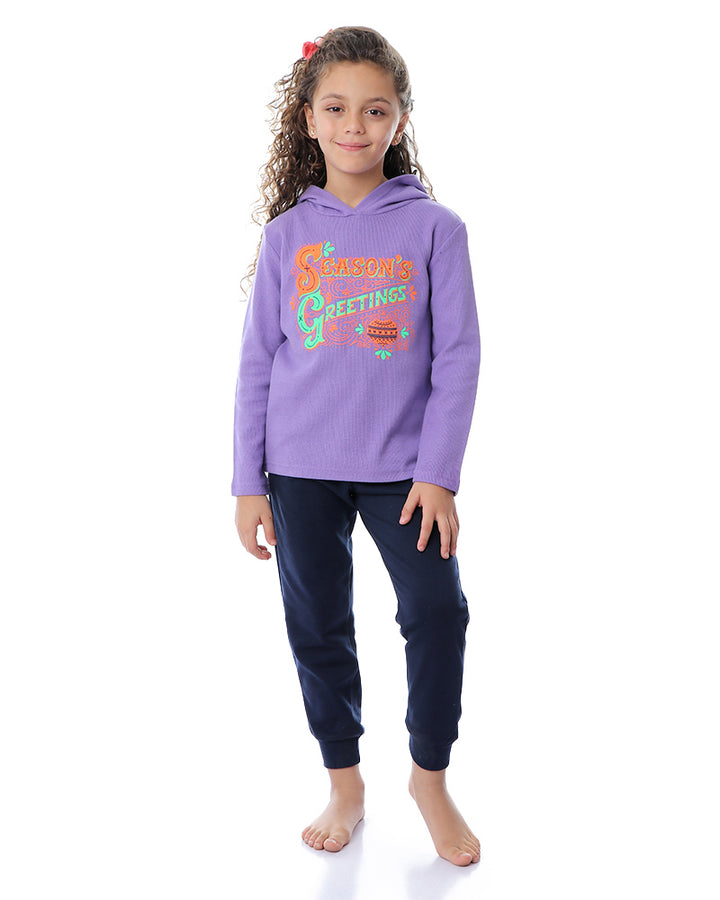 kashmir pajama  greating purple