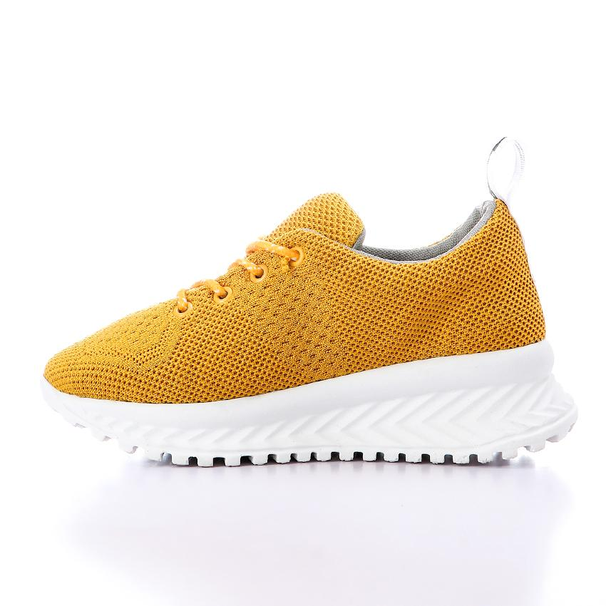 Mesh Lace Up Mustard Sneakers