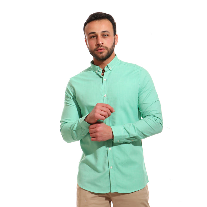 Casual Comfy Full Sleeves Shirt - Mint Green