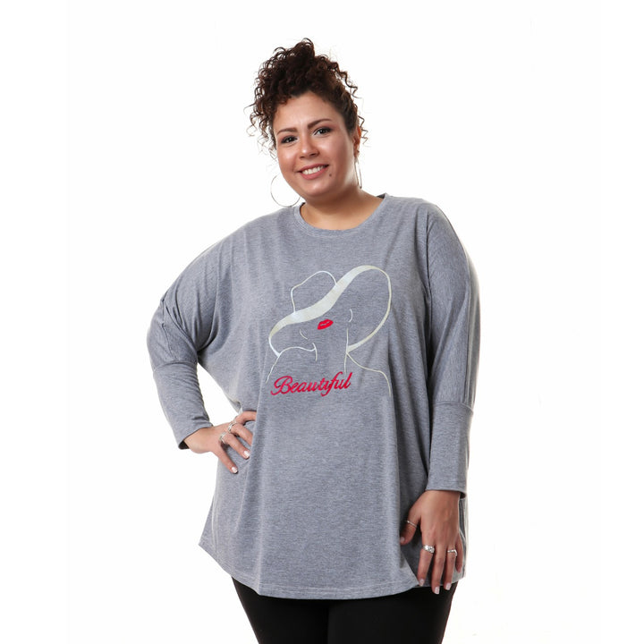 BEAUTIFUL Over-sized T-shirt - Grey
