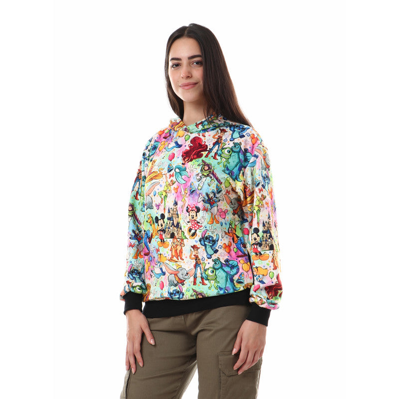 Hooded_Neck_Cartoon_Characters_Sweatshirt_-_Multicolour