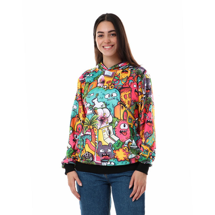 Colorful_Pattern_Slip_On_Sweatshirt_-_Multicolour