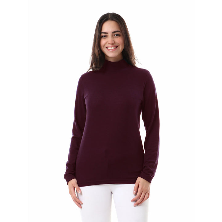 Unisex_Plain_High_Neck_Basic_Winter_Top_-_Dark_Purple
