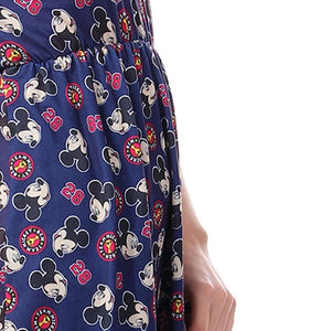 Mickey Mouse Elastic Waist Sleep Shirt - Navy Blue