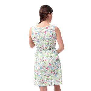 hello kitty printed nightgown   - Light Green