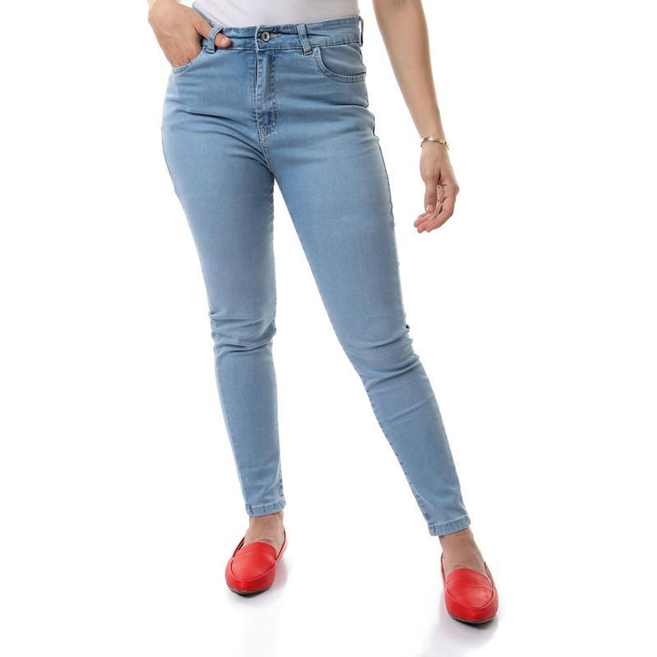 Iced Blue High Waist Skinny Jeans