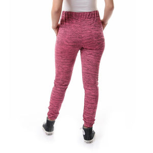Elastic Hem Heather Fuchsia Comfy Pants