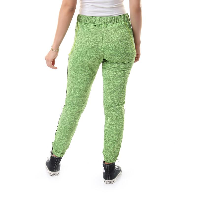 Heather Side Line Casual Sweatpants - Green