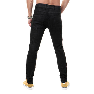 Dark Navy Blue Solid Regular Fit Jeans