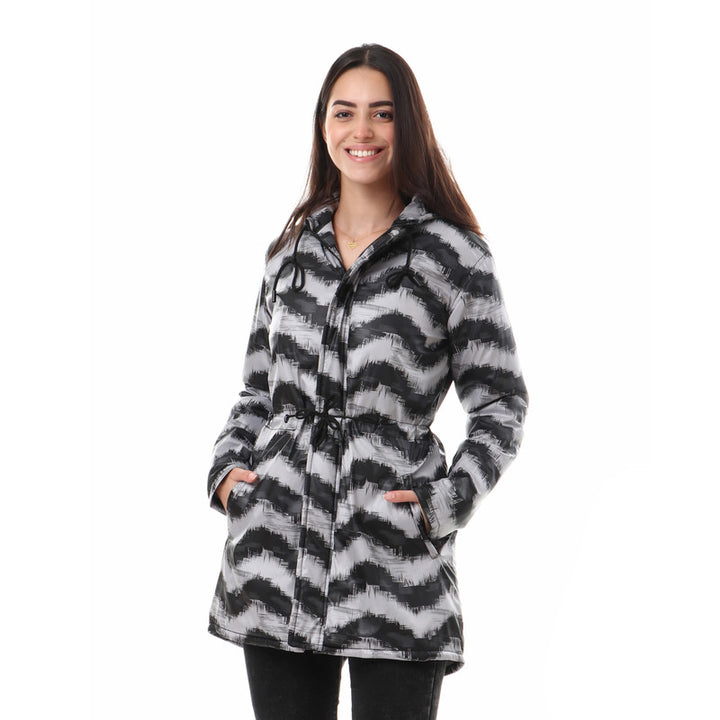 Zipped_Padded_Fur_Self_Pattern_Jacket_-_Grey_&_Black