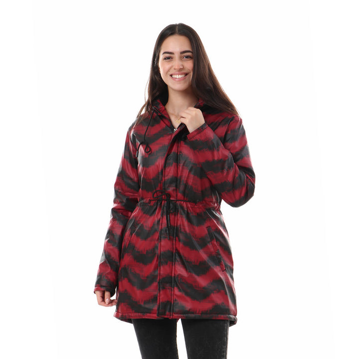 Bi-tone_Zipped_Jacket_With_Inner_Fur_-_Red_&_Black