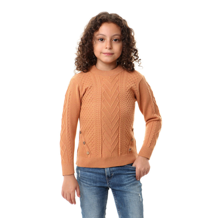 Down Decorative Buttoned Pullover For Boys - Peru