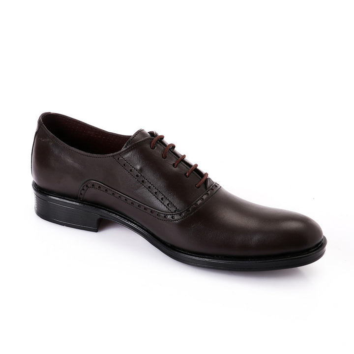 Classic Solid Lace Up Oxford - Dark Brown