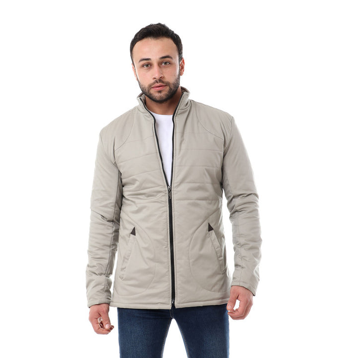 Stitchings Solid Jacket - Light Taupe