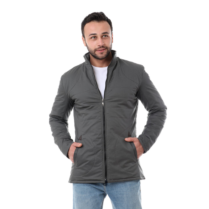 Stitchings Solid Jacket -Grey