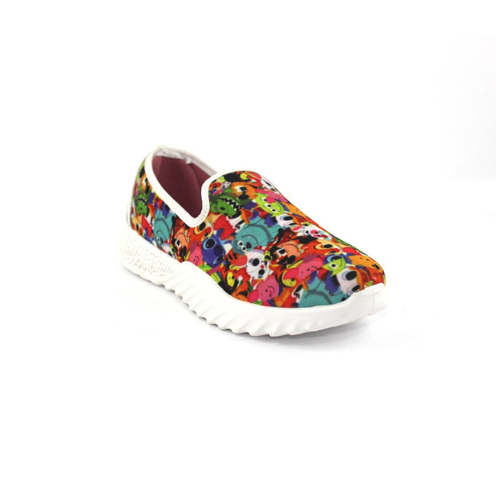 Canvas Slip On Printed  Shoes FOR  Women  - Multicolour 1