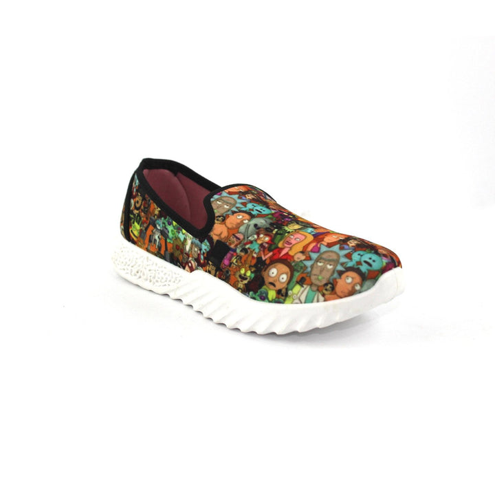 Canvas Slip On Printed  Shoes FOR  Women  - Multicolour 2