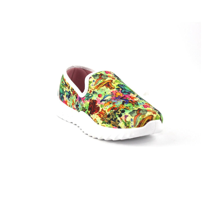 Canvas Slip On Printed  Shoes FOR  Women  - Multicolour 3
